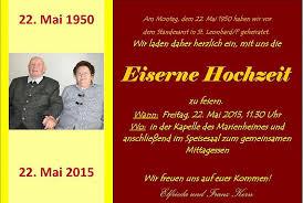einladung zur eisernen hochzeit vorlagen - Eiserne Hochzeit Einladung