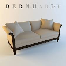 Curved Arm Sofa by 3d Model Bernhardt Traditional Sofa Cgtrader