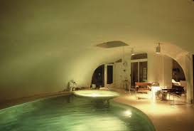 inside view of an indoor pool in a jai earth home not really