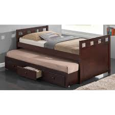Captains Bed Twin Size Bedroom Captains Bed With Trundle Childrens Trundle Beds