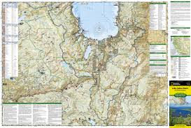 National Geographic Map Lake Tahoe Basin Us Forest Service National Geographic Trails