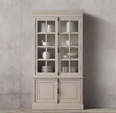 restoration hardware china cabinet casement double door sideboard hutch
