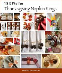 18 diy tutorials for your own thanksgiving napkin rings they