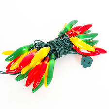 green yellow chili pepper light strings with 35 lighted