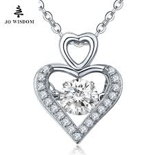 personalized sterling silver necklaces personalized 925 sterling silver necklace heart gift for women