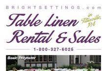 bright settings table linen rental bright settings brightsettings on pinterest