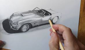 car ferrari drawing classic cars f1 motorsport art paintings and prints automotive