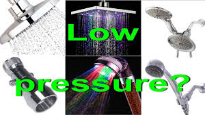 low water pressure in shower head fix how to increase water flow