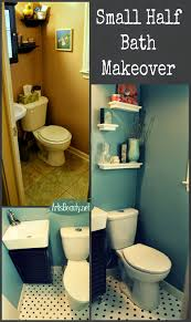 art is beauty finished tiny half bathroom powder room remodel