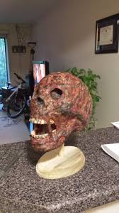 liquid latex halloween city halloween prop burned skull u2013 bonediceblog