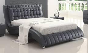 Black Leather Sleigh Bed Black Leather Sleigh Beds Pinkax