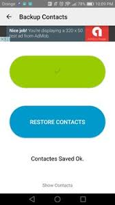backup contacts apk easy backup contacts apk free tools app for android