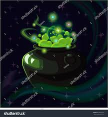 halloween witch pot cartoon fantasy magic icon computer game stock vector 649079524