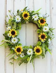 front door wreath sunflower wreath spring wreath summer wreath