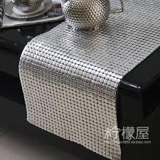 luxury european table runner silver 8mm large aluminum sheet metal