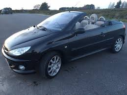 peugeot 206 allure cc convertible 2007 black metallic mileage