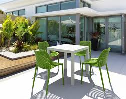 compamia air outdoor dining chair dark gray isp014 dgr