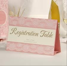 wedding registration pink lace wedding invitations table registration card custom