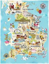 Hastings England Map by Tilly Aka Running For Crayons Freelance Illustrator