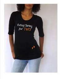 Announcing Pregnancy At Thanksgiving Turkey Hand Maternity Dark T Shirt Pregnancy Thanksgiving And