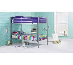 Buy HOME Samuel Single Bunk Bed Frame Silver At Argoscouk - Single bunk beds