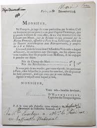 si e de l assembl nationale 1791 lettre de l artiste d haudricourt à l assemblée nationale