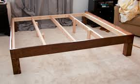How To Build A Simple King Size Platform Bed by Glitter And Goat Cheese Diy King Sized Wood Platform Bed