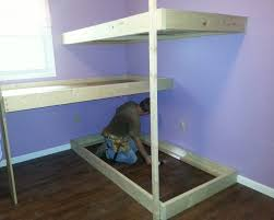 Build A Bunk Bed With Trundle by Bunk Beds Free 2x4 Bunk Bed Plans Free Loft Bed Plans How To