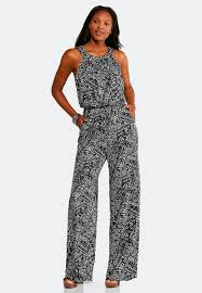 black and white jumpsuit black and white aztec jumpsuit jumpsuits cato fashions