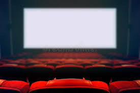 siege de cinema siège vide de cinéma de avec l écran blanc vide photo stock