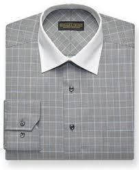 donald j trump dress shirt navy and white stripe with white