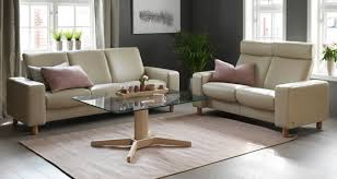 Low Back Leather Sofa Ekornes Stressless Pause Low Back Sofa Ambiente Modern Furniture