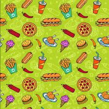 seamless pattern food fast food with pizza vector seamless pattern vector food free download