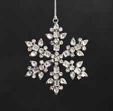 glass snowflake beaded snowflakes
