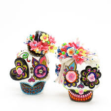 sugar skull cake topper skull wedding cake toppers skull lover day of dead 0077