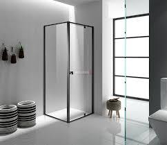Black Shower Door Semi Frameless Shower Screen Front And Return Sizes