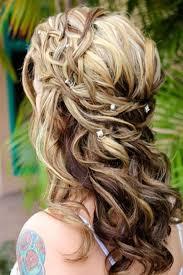 wedding half up half down hairstyles with braid 2017