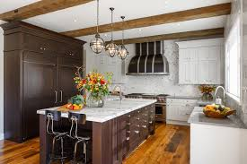 salvaged wood kitchen island with stacked drawers cottage kitchen