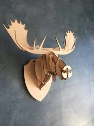 large small wooden moose head 3d wall art home decor 3d laser large small wooden moose head 3d wall art home decor 3d laser cut animal trophy head