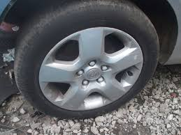 vauxhall zafira vauxhall zafira b wheel inc tyre 16 shape 5 spoke wheel