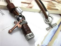 mens leather necklace chains images Free shipping l00 leather charm necklace anti copper charms jpg