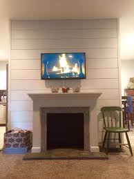 diy shiplap and faux fireplace pics included weddingbee