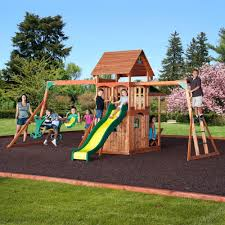 outdoor u0026 garden design fancy cedar summit playset made of wood
