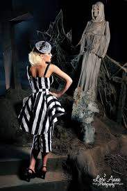 vintage goth pinup capsule collection glamour ghoul dress in