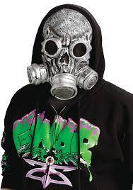 scary mask silver bio gas scary mask costume craze