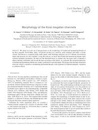 morphology of the kosi megafan channels pdf download available