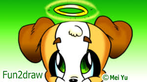fun2draw thanksgiving cute innocent dog eating delicious homework fun 2 draw