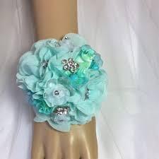 mint green corsage aqua wedding flowers diy mint aqua wrist corsage flowers prom