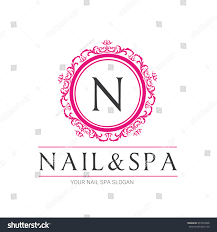 nail beauty spa logo nail logo stock vector 437472268 shutterstock