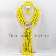 african beads necklace sets images Nigerian wedding african beads jewelry set crystal rhinestone jpg